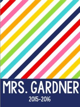 Teacher Binder Covers - Bright Rainbow