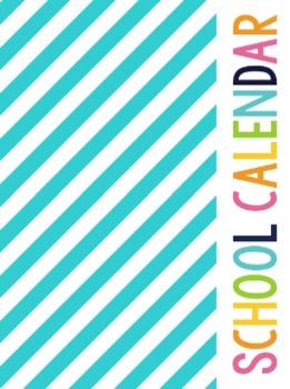 Teacher Binder Covers - Bright Rainbow Stripe