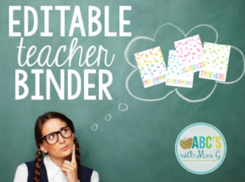 Teacher Binder Covers - Neon Confetti