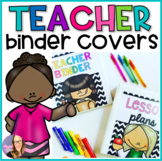 Teacher Editable Binder Covers for Back to School
