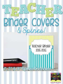 Teacher Binder Covers - Beach Colors - EDITABLE FILE INCLUDED!!