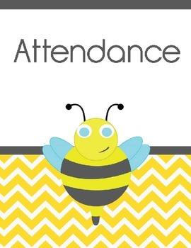 Teacher Binder Covers! Bee Theme!