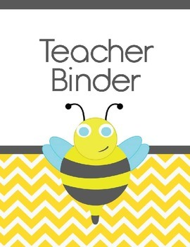 Teacher Binder Covers! Bee Theme!