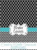 Teacher Binder Covers - Black, White, & Turquoise