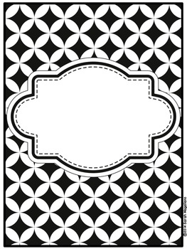 Binder Covers and Spines: Black and White (23)