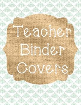 Teacher Binder Covers - Burlap Theme