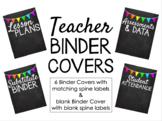 Teacher Binder Covers - Chalkboard & Neon Pennant