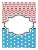 Teacher Binder Covers: Chevron and Polka Dots
