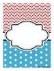 Teacher Binder Covers: Chevron and Polka Dots