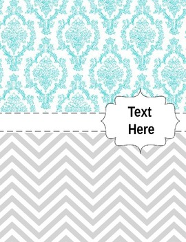 Teacher Binder Covers (Chevrons and Tiles in Pink, Grey, Green, Blue, Yellow)