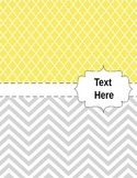 Teacher Binder Covers (Chevrons and Tiles in Pink, Grey, G