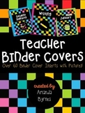 Teacher Binder Covers (Dark Rainbow) (Over 60 Choices!)