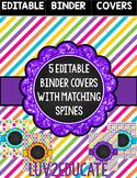 Teacher Binder Covers Editable