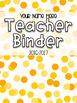 Teacher Binder Covers - Editable
