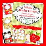 Teacher Binder Covers - Editable - Apple Theme