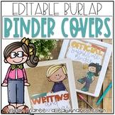 Teacher Binder Covers {Editable Burlap}