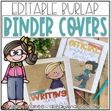Teacher Binder Covers {Editable Burlap}