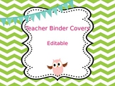 Teacher Binder Covers - Editable - Chevron
