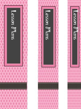 Teacher Binder Covers - Editable - Cotton Candy Pink