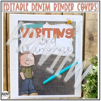 Teacher Binder Covers {Editable Demin}