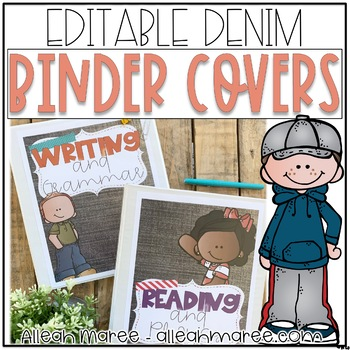 Teacher Binder Covers {Editable Demin}