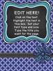 Teacher Binder Covers - Editable - Free Sampler Set