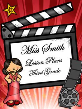Teacher Binder Covers - Editable - Hollywood Theme