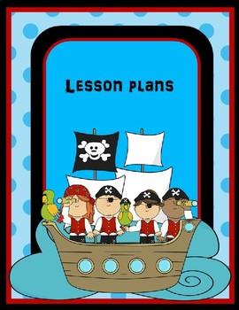 Teacher Binder Covers Editable ~ Pirate Theme