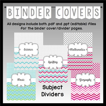 Teacher Binder Covers (Editable): Quatrefoil and Chevron Theme MULTI Pack!