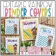 Teacher Binder Covers {Editable Rainbow}