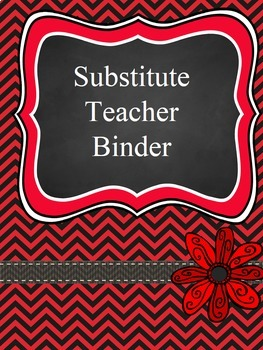 Teacher Binder Covers - Editable - Red and Black
