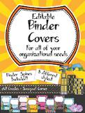 Teacher Binder Covers - Editable - Superhero Theme (PreK -3)