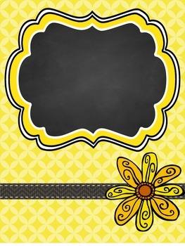 Teacher Binder Covers - Editable - Yellow