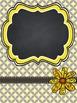 Teacher Binder Covers - Editable - Yellow and Grey