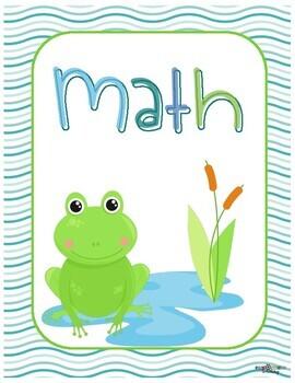 Teacher Binder Covers - Frog Theme