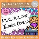 Music Teacher Binder Covers: Purple
