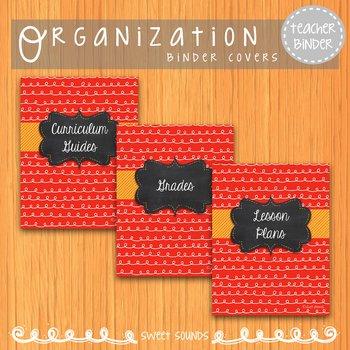 Teacher Binder Covers: Music {Red}