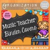 Music Teacher Binder Covers: Red