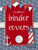 Teacher Binder Covers - Nautical theme