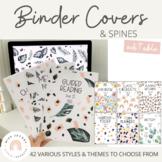 Teacher Binder Covers Pages   Editable   Modern Neutral Classroom Decor   Set 2