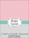 Teacher Binder Covers - Pretty Pink & Tiffany's Blue Theme