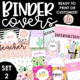 Teacher Binder Covers {SET TWO}