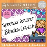 Specials Teacher Planner Dividers - Purple