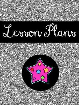 Teacher Binder Covers (Stylish Glitter) (Over 60 Choices!)