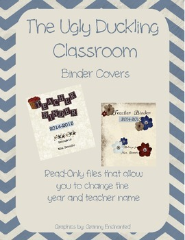 Teacher Binder Covers - The Ugly Duckling Classroom