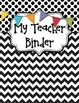 Teacher Planner Covers and Dividers - Black and White with Banner