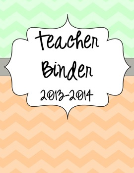 Teacher Binder Covers and Dividers {Mint/Coral Chevron}