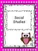 Teacher Binder Covers and Dividers - Owl and Polka Dot Theme