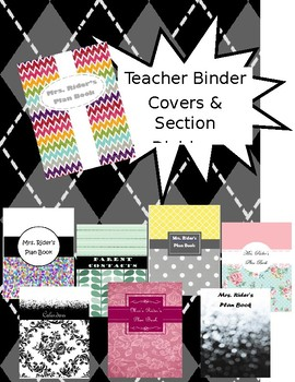 Teacher Binder Covers and Section Dividers