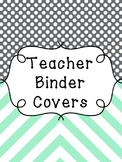Binder Covers and Spines Mint & Gray {EDITABLE}